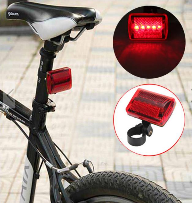 TripleClicks.com: 5 LED Bike Tail Light Bicycle Red Flash ...