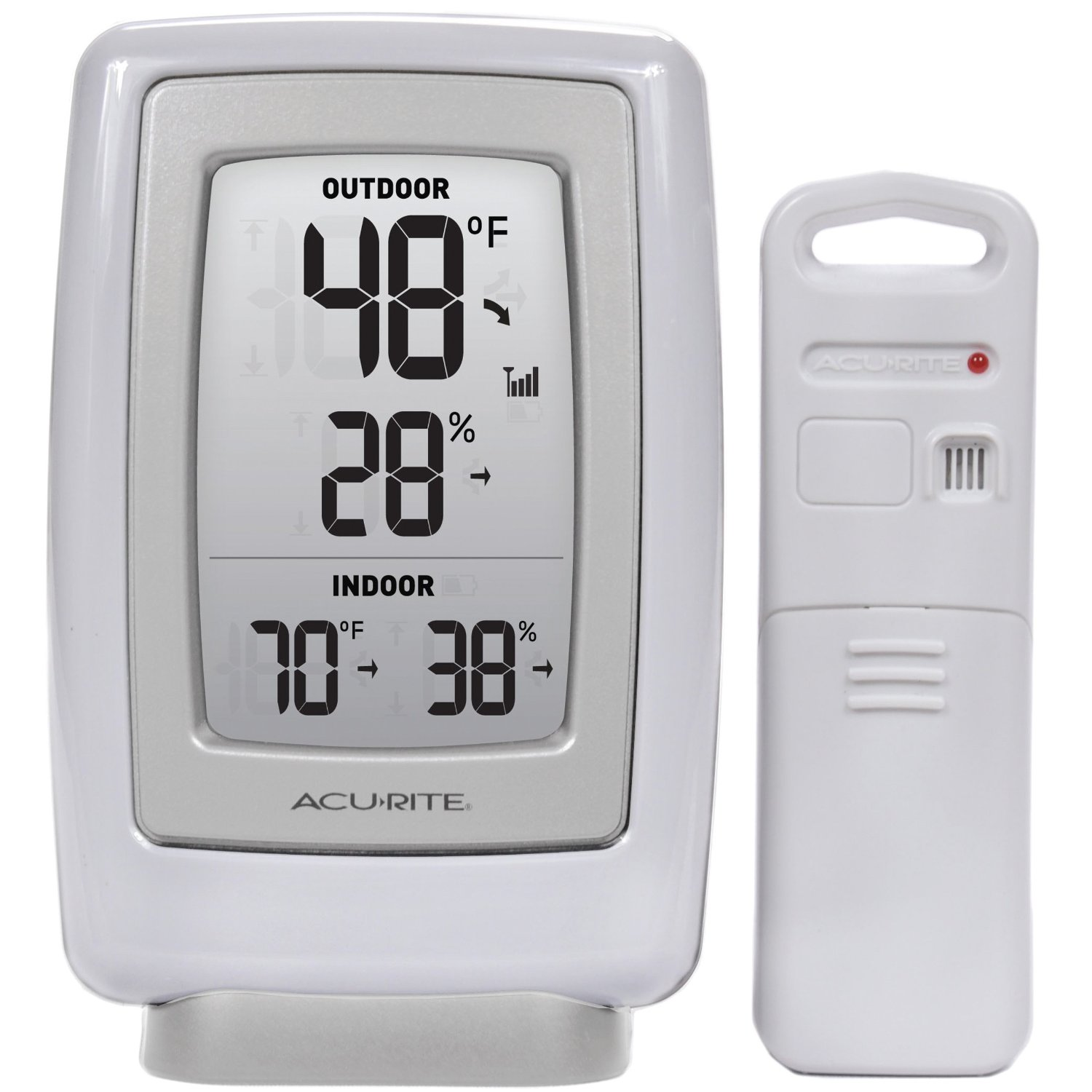 Indoor Outdoor Thermometer And Humidity Sensor Acurite Wireless