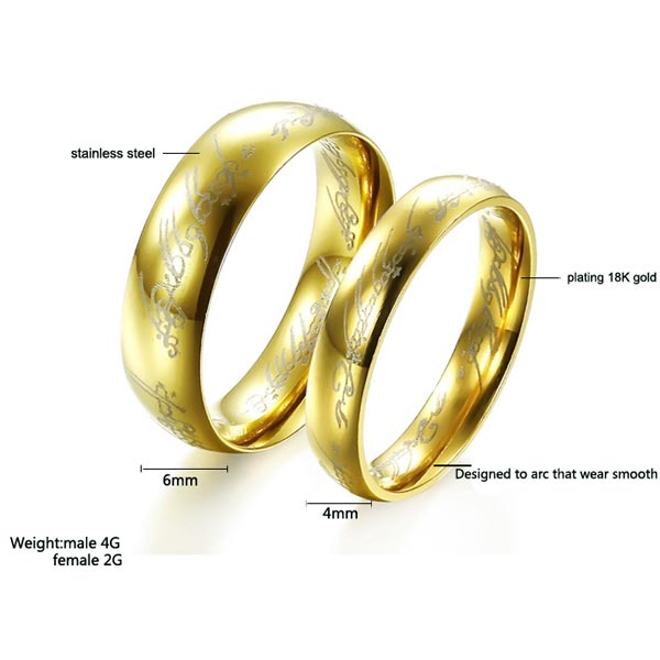 Tripleclicks Com Free Shipping Lord Of The Rings Ring Stainless