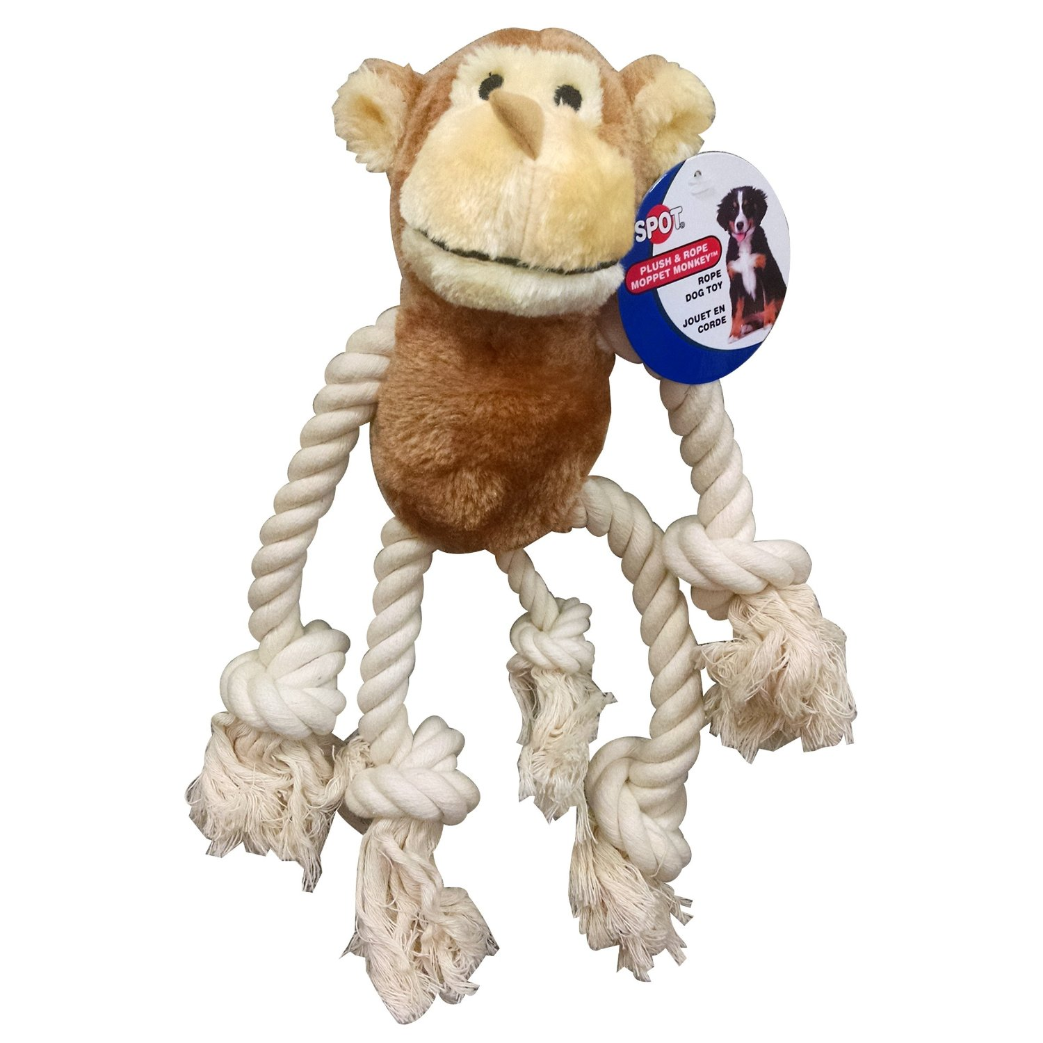 TripleClicks.com: Dog Toy Monkey, 12-1/2-Inch Ethical Moppets