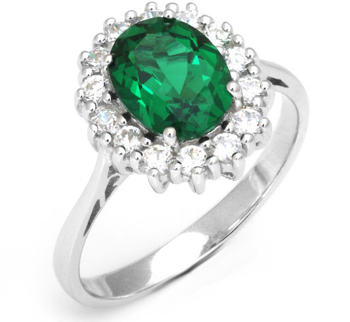 Tripleclicks Com Luxury British Kate Princess Diana Emerald Ring