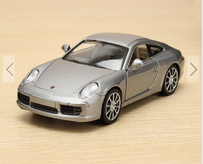 Gm 135 Porsche 911 Carrera S Metal Model Alloy Wind Up Car Model Toy