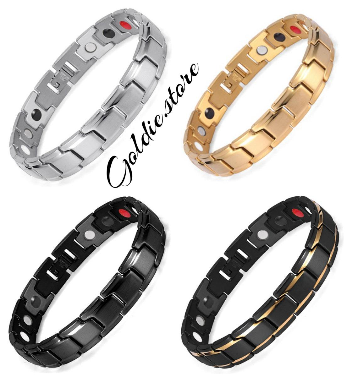316l Stainless Steel 4 In 1 Bio Magnetic Health Energy Bracelets