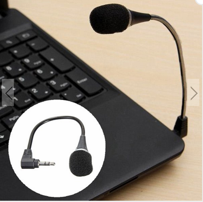 Mini 3.5mm Flexible Microphone For PC Laptop Skype MSN SKYPE Chat Online— $6.00 (Save 60%!)