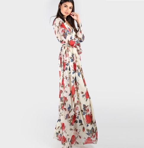 Tripleclicks Com Floral Print Chiffon Dresses