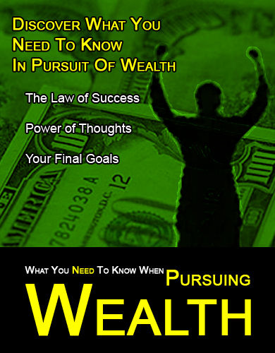 pursuit of wealth This culture of ye dil maange more is the reason behind this transition from the pursuit of happiness to the pursuit of wealth some may argue that wealth = happiness and they have their preset.