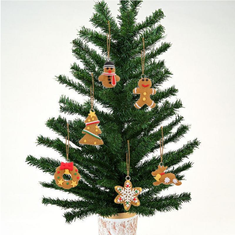 Tripleclicks pcs cute gold christmas tree keychain