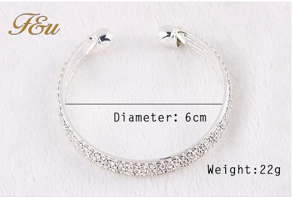tripleclicks com  fashion rhinestone open bangle bracelet