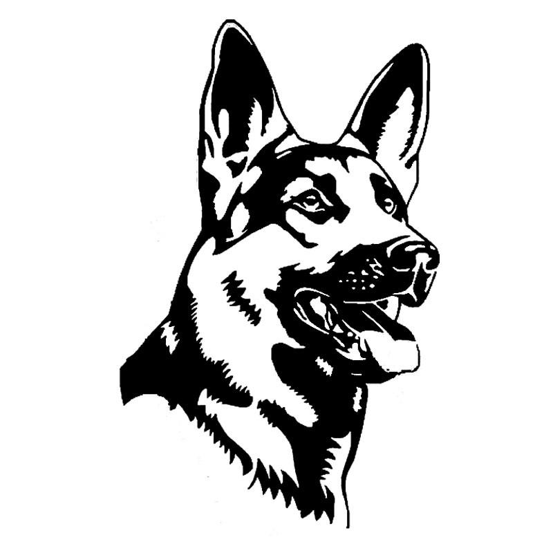 german shepherd alsation dog car stickers personality vinyl decal car styling. Black Bedroom Furniture Sets. Home Design Ideas