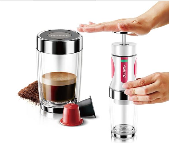 Novella Coffee Capsule Maker : TripleClicks.com: Barsetto Portable Hand Press Coffee Maker Mini Handheld Espresso Pods Coffee ...