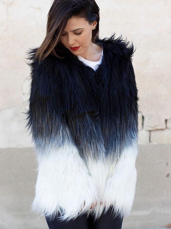 Elegant Black Jacket Coat Overcoat