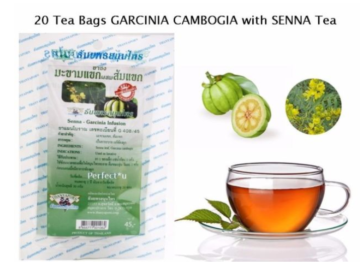 Slimming Weight Loss Tea Organic T Detox Garcinia Cambogia Senna 20 Bags