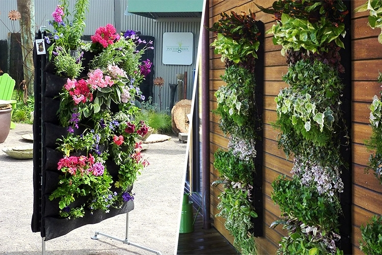 Awesome Vertical Wall Planter Part - 8: TripleClicks