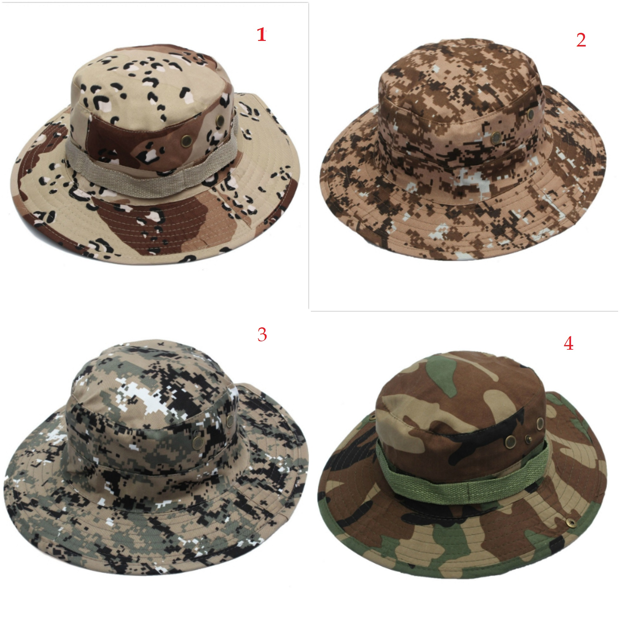 8c03309666e Bucket Hat Boonie Hunting Fishing Outdoor Cap Wide Brim Military Unisex Sun  Camo