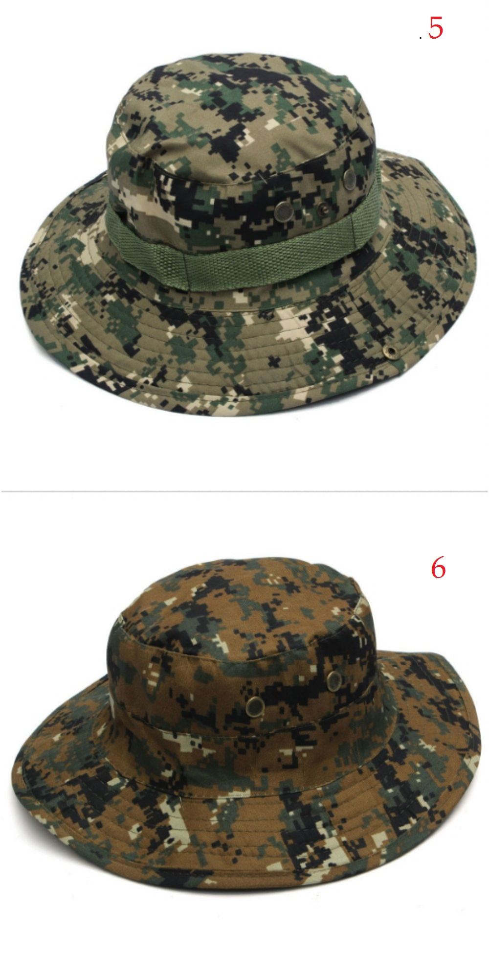 Bucket Hat Boonie Brim Hunting Fishing Outdoor Cap Wide Military Unisex Sun Camo