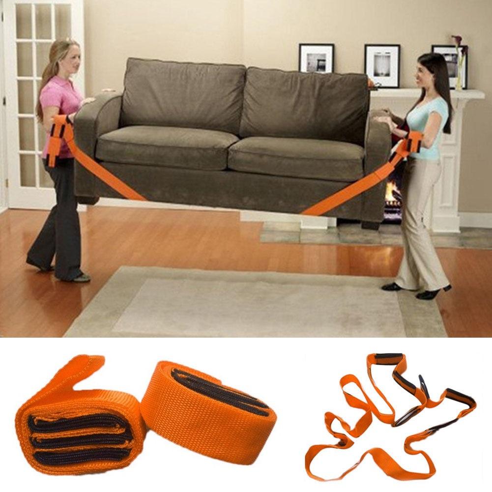 2pcs 2inch Furniture Moving Belt Team Straps Adjustable Mover Easier Lifting