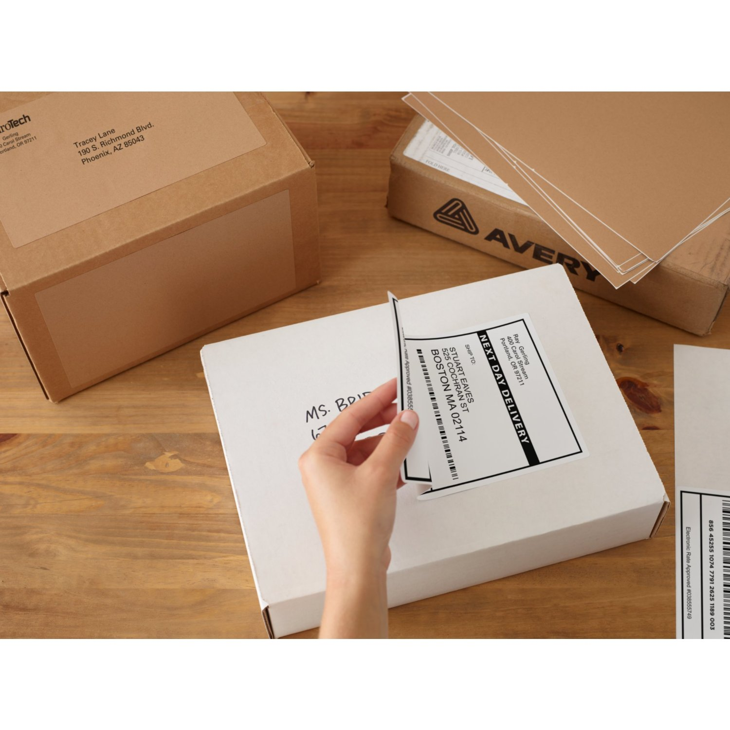 TripleClicks Shipping Labels with TrueBlock Technology Avery – Large Mailing Labels