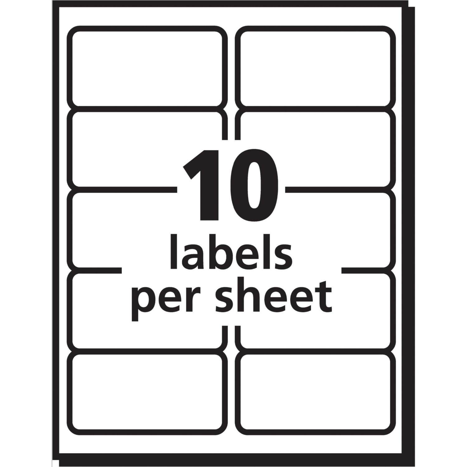 TripleClickscom Shipping Labels With TrueBlock Technology Avery - 2x4 shipping label template