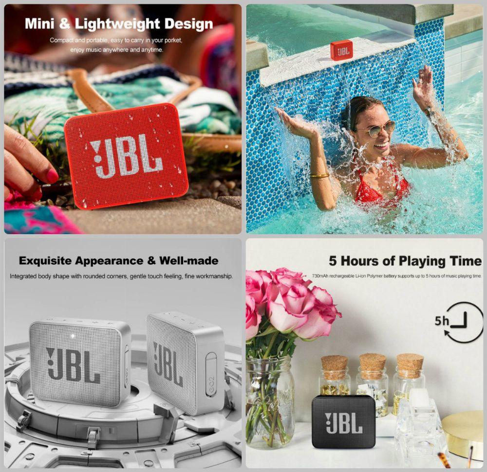 Tripleclicks Com Jbl Go 2 Portable Bluetooth Waterproof Speaker 6 Colors