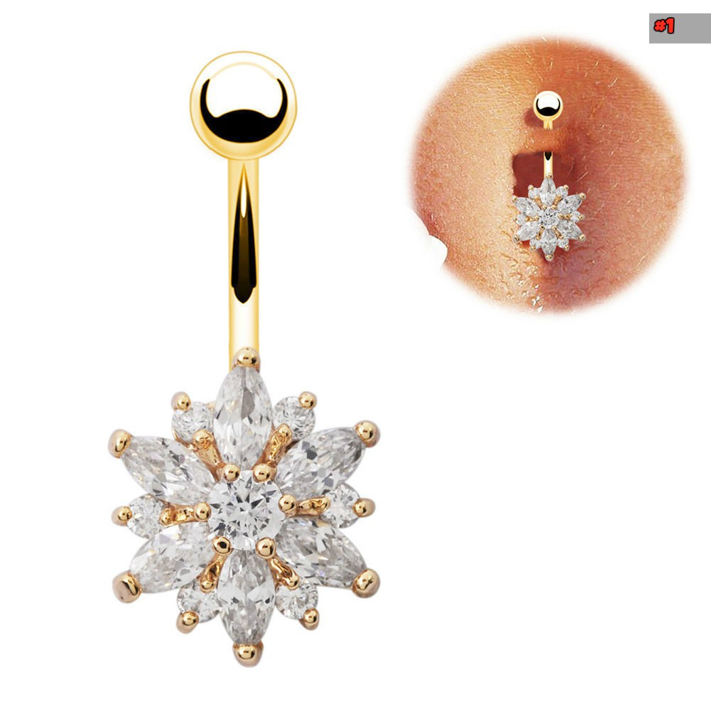 Belly button ring body piercing jewelry for Types of body jewelry rings