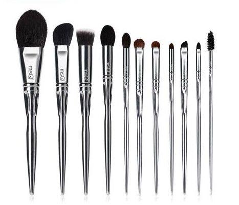 tripleclicks professional 11pcs powder makeup brushes set