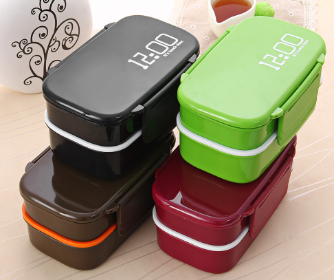 eco friendly japan style double tier bento lunch box. Black Bedroom Furniture Sets. Home Design Ideas