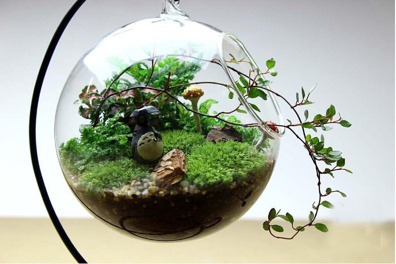 hanging crystal flower vase planter. Black Bedroom Furniture Sets. Home Design Ideas