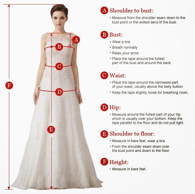 tripleclickscom bridesmaid dresses tailored for your size With how to measure for a wedding dress