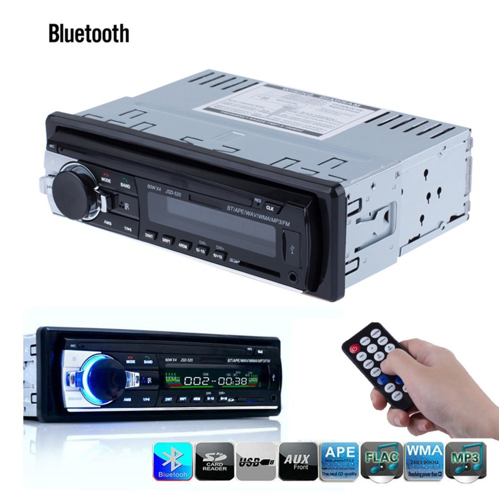 12v car stereo with bluetooth audio in. Black Bedroom Furniture Sets. Home Design Ideas