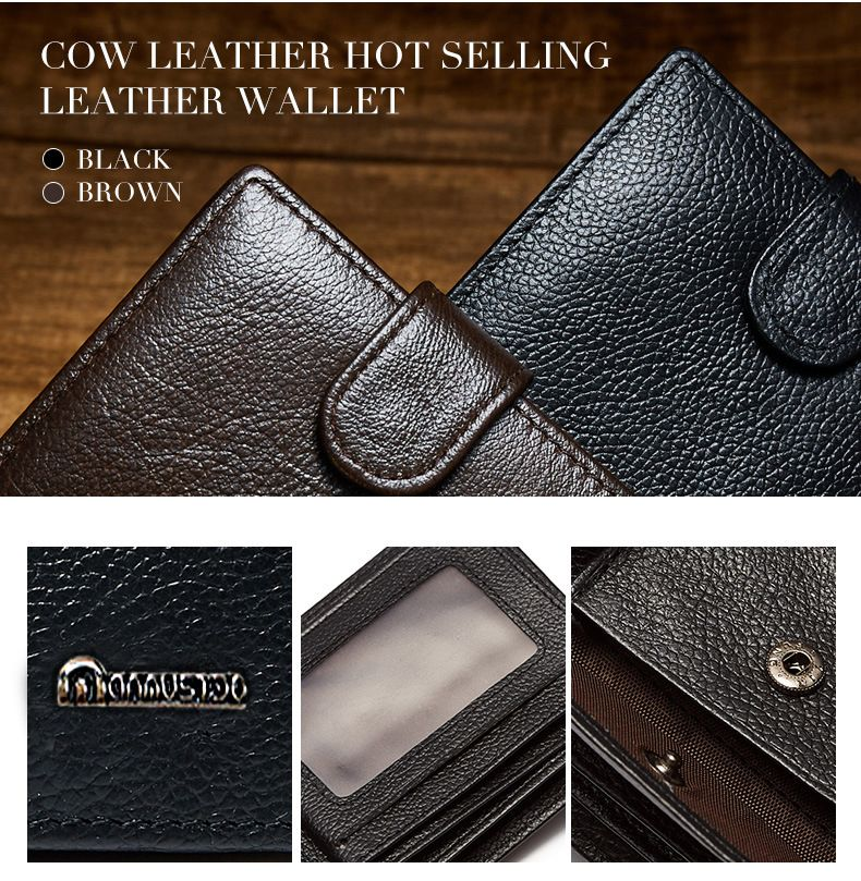 9d3c09629147 FREE SHIPPING-First Class PU Leather Fashion Men Wallet With Coin Pocket