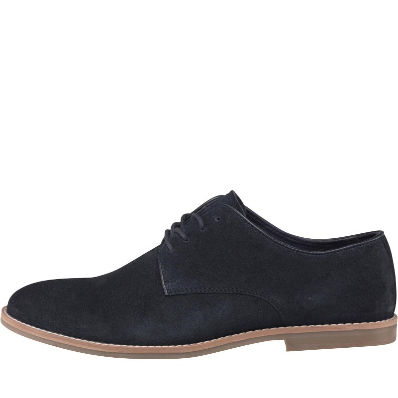 Onfire Mens Suede Derby Shoes Navy