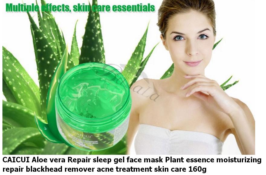 aloe vera plant sleep mask gel cream face mask essence moisturizing repair. Black Bedroom Furniture Sets. Home Design Ideas