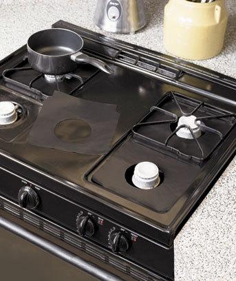 stovetop reusable aluminum foil gas stove protectors cover liner reusable non. Black Bedroom Furniture Sets. Home Design Ideas